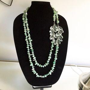 Ann Taylor by Loft Green Aventurine Necklace